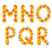 秋季字母表 — 图库矢量图片