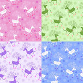 Seamless pattern with cute deers — Stock Vector