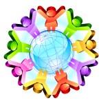Global friendship concept — Stock Vector #16359411