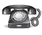 Retro black telephone — Stock Vector