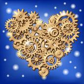 Símbolo del corazón mecánico — Vector de stock