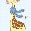 Cute happy Giraffe with a scarf. — Stock Vector #18898185