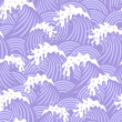 Seamless pattern with violet waves — Stock Vector