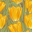 Seamless pattern with tulips — Stock Vector #29416885