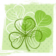 Three leaf clover illustration — Stock Vector