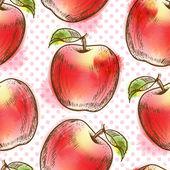Wzór z jabłkiem — Wektor stockowy