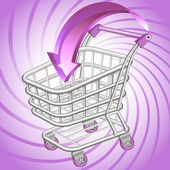 Shopping cart — Wektor stockowy