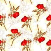 бесшовные роз узор — Cтоковый вектор