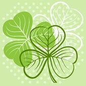 Illustrazione di tre leaf clover — Vettoriale Stock