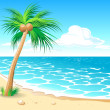beach tropical — Vector de stock