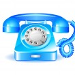 Retro blue telephone — Stock Vector #29712123