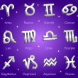 Stock Vector: Horoscope zodiac star signs
