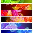 Set of abstract banner backgrounds — Stock Vector