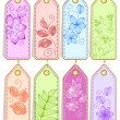 Set of cute tags — Stock Vector