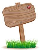 Wooden signboard — Stock Vector