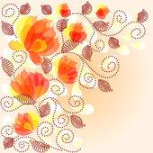 εκλεκτής ποιότητας floral φόντο — Διανυσματικό Αρχείο