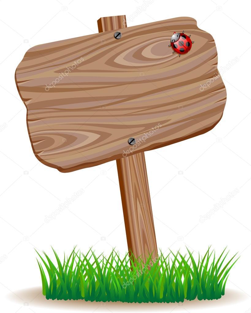 Letrero de madera vector de stock 29712303 depositphotos - Letreros en madera ...