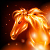Fire horse — Stock Photo
