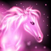 Magical pink horse — Stock Photo