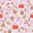Seamless pattern with sweets — Stock Vector #36300701