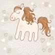 Cute horse — Vector de stock