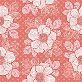 Seamless pattern with peony — Stock Vector
