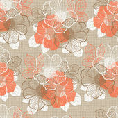Seamless pattern with peony — Vector de stock