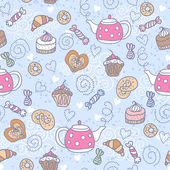 Seamless pattern with sweets — Stockvektor