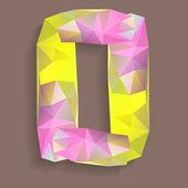 Geometrik kristal rakam 0 — Stok Vektör