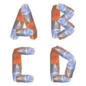 Geometric crystal alphabet — Stock Vector