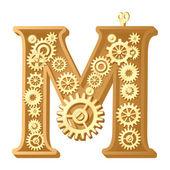 Alfabeto mecánico — Vector de stock