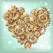 Mechanical heart symbol — Stock Vector