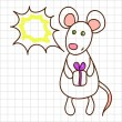 Cute mouse — Stock Vector #8840608