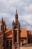 Red pseudo-gothic church — Stock Photo