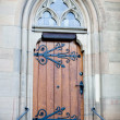 Gothic church door — Stock Photo