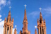 Iglesia gótica roja — Foto de Stock