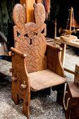 Wooden armchair — Stock Photo