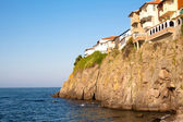 Houses on the cliff — Stock Photo