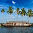 Stock Photo: Houseboat on Keralbackwaters, India