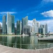 Singapore skyline panorama — Stock Photo