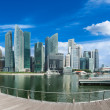 Singapur Skyline panorama — Stockfoto