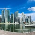 Singapore skyline panorama — Stock Photo