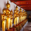 Standing Buddha statues. Thailand — Stock Photo