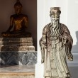 Wat Pho stone guardian, Thailand - Stock Photo