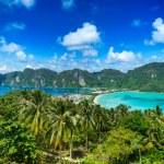Panorama da ilha tropical — Foto Stock