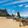 Long tail boats on beach, Thailand — Stock Photo #13336146