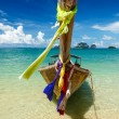 Long tail boat on beach, Thailand — Stock Photo #13336155