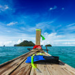 Snorkeling set on boat - Stock Photo