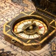 Royalty-Free Stock Photo: Vintage pirate compass on ancient map