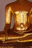 Seduta dettagli statua di buddha, thailandia — Foto Stock